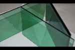 Dark green float glass