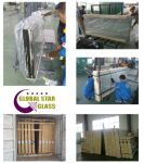 6.38mm S10 grey  laminated  glass 2000x2440mm