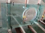 4-12mm Tempered Countertop Glass with Bowl/Pot Hole in Bathroom,Shower room-AS/NZS:2208:1996,CE,ISO 9002