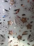 ice acid glass, golden flower glass, ceiling glass, shining glass