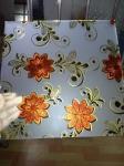 diseño de vidrio de patrón, vidrio ácido de flor de hielo, vidrio de flor dorada, vidrio de patrón de hielo