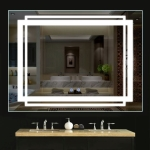 Led one touch mirror
