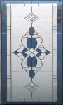 Rectangular design embroidered art glass