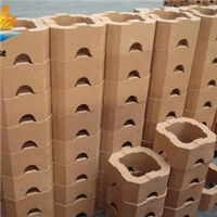 Chimney checker magnesia bricks for upper layer of regenerator checker
