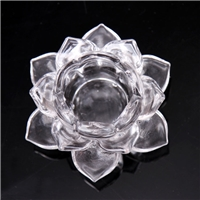 LXS001 Lotus Shape Glass Candle Holder from Anhui Langxu glassware