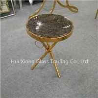 Coffee Table/ Bar Table with brass stand