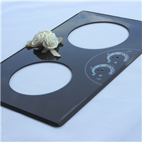 2 burner 8mm tempered glass panel for gas stove cooktop
