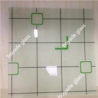 decorative art glass silk screen print glass