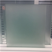 3-12mm Clear Acid Etched Glass Without Finger
