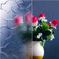 3-6mm Karatachi, Flora,   Crystal, Rain, Patterned Glass