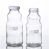 220ML juice bottle with metal screw cap