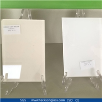 Ultra Clear Silking Printing Glass With White Painted RAL9001