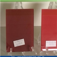 Ultra Clear Silking Printing Glass With Red Painted