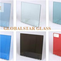 Laminated glass with color PVB, clear glass