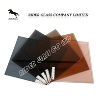 5mm Aluminium Blue Black Sheet Float Glass