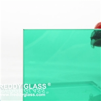 High Quality Safty Blue laminated glass 6.38mmm