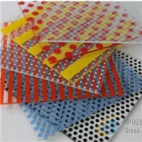 Colored glaze glass