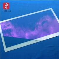 AR coated color glass cover lens for Capacitive Touch Screen , Industrial touch Panel Display