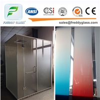 3-12mm Frosted Bathroom Glass Door Glass Acid Etched Glass