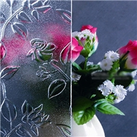3-10 mm Clear Rich Flower Pattern Glass Decorative Hight Quality