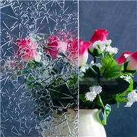 2-10mm Clear Rose Pattern Lacquered Glass Decorative