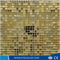 Golden Wall Decorative Crystal Glass Mosaic