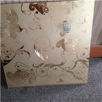 Deep Acid Etched Glass With Design