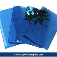 4-6mm Dark Blue Reflective Glass for Building