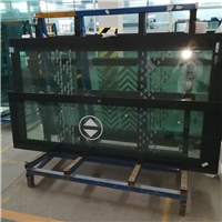 Tempered windows for high speed train