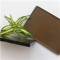 6mm brown reflective glass for building windows