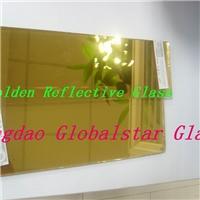 4mm 5mm 6mm golden reflective glass