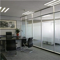 office partition glass wall modern interior doors acid etched frosted sound-limited glass