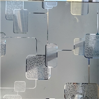 3-12mm Acid Etched Glass , Frosted Glass