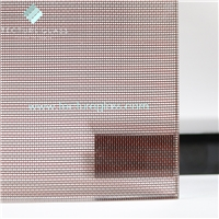 Tecture customized metal mesh laminated glass