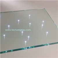 Tecture tinted led laminated glass