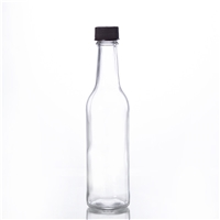 250ML woozy salad sauce bottle glass dressing bottle with plastic cap