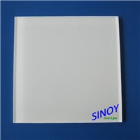 China Qingdao 4mm RAL 9003 Pure White Back Painted Glass, Lacquered Glass