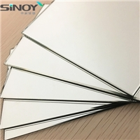 2mm - 6mm Magnetron Sputtering Coated Float Glass Aluminum Mirror with single or double paints