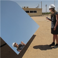 1.1mm to 4mm thick High reflectivity Low iron ultra clear solar mirrors for CSP applications