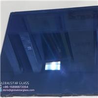 3-8mm Dark BLUE reflective glass for door and window