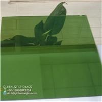 3-8mm Dark green reflective glass for door and window
