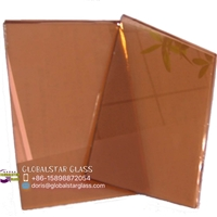 3-8mm Pink reflective glass for door and window