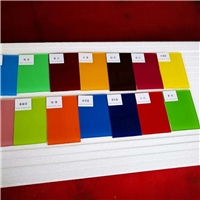 Lacquered glass, back painted glass, RAL/PANTONE color card