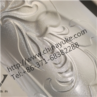 Glass etching powder carving Chinese art pattern on glass