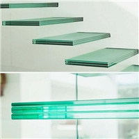 Top quality safety tempered laminated glass staircase cost