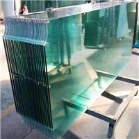 Clear float tempered glass door