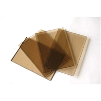 bronze colored glass sheets tempered low-e glass SYS