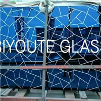 V-groove glass/Mirror