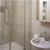 glass shower room enclosures with frameless design