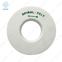 Economical Glass Wool grinding Wheel Spiral Felt Polishing Wheels For Glass Edger,Double Edger,Bevelling Machine